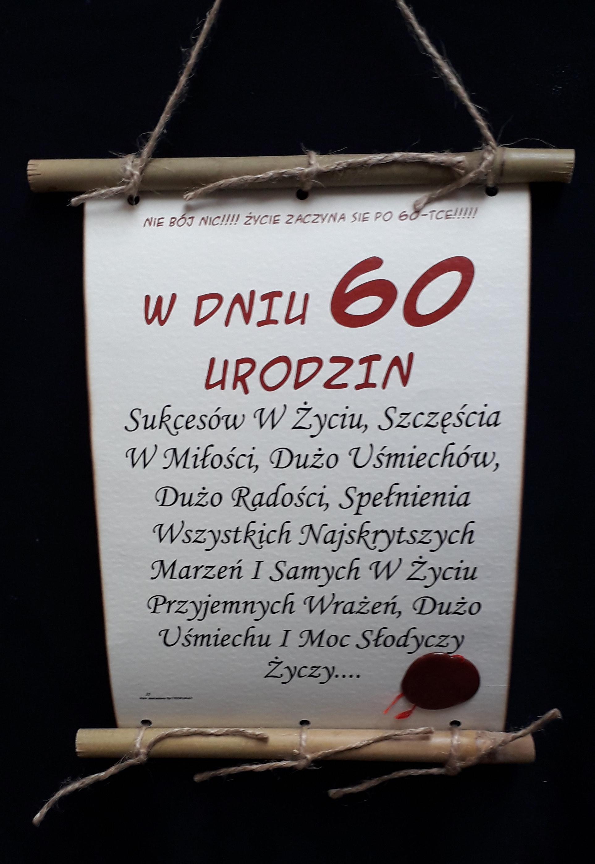Dyplom-60-w dniu 60 urodzin (bambus)