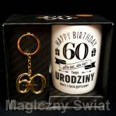 "Kubek z Brelokiem HAPPY BIRTHDAY- ""60"""